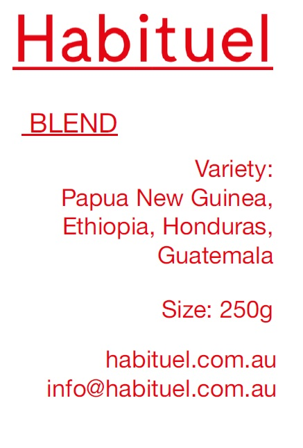 Habituel blend house coffee 250g