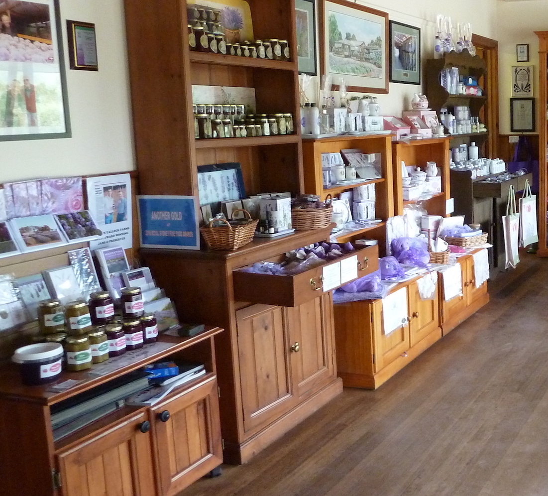 warratina lavender Farm gift shop