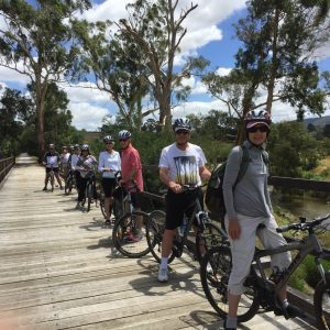 Cycling Warburton Rail Trail, Yarra Valley